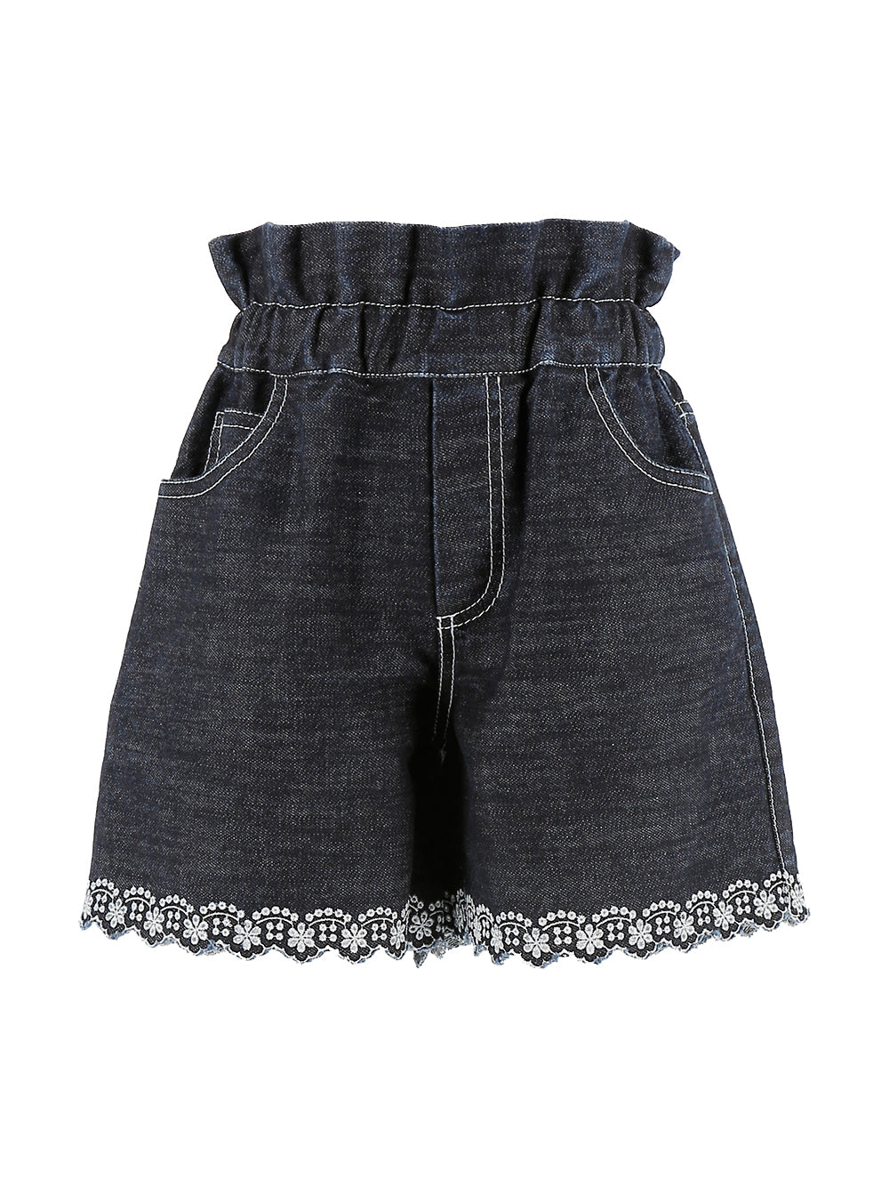 Embroidered Edge Shorts
