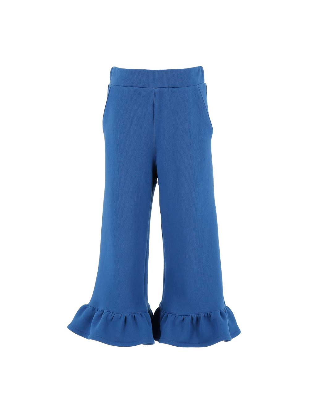 Ruffle Edged Blue Trousers