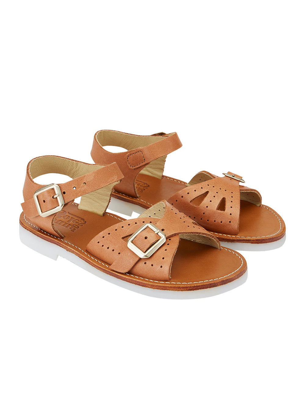 Pearl Clay Leather Sandals
