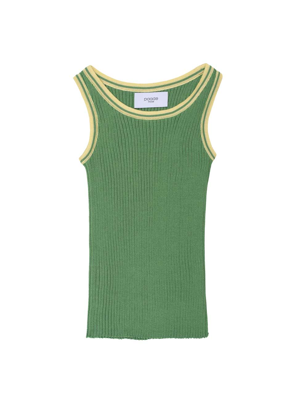 Green Seamless Knit Tank