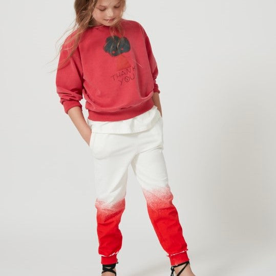 Red Bicolor Pants