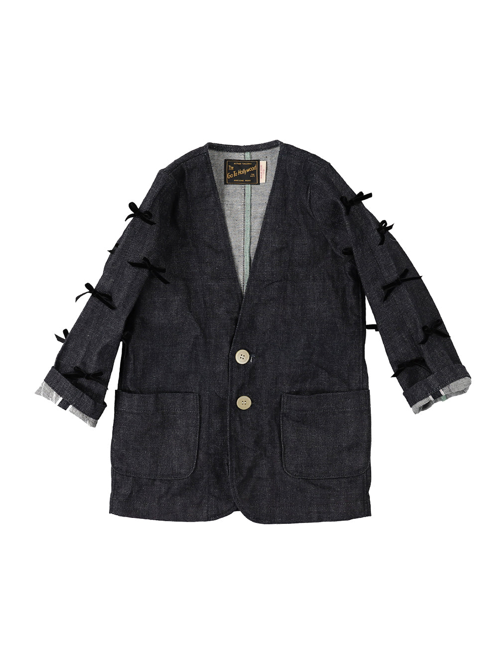PREORDER: Navy Ribbon Denim Jacket