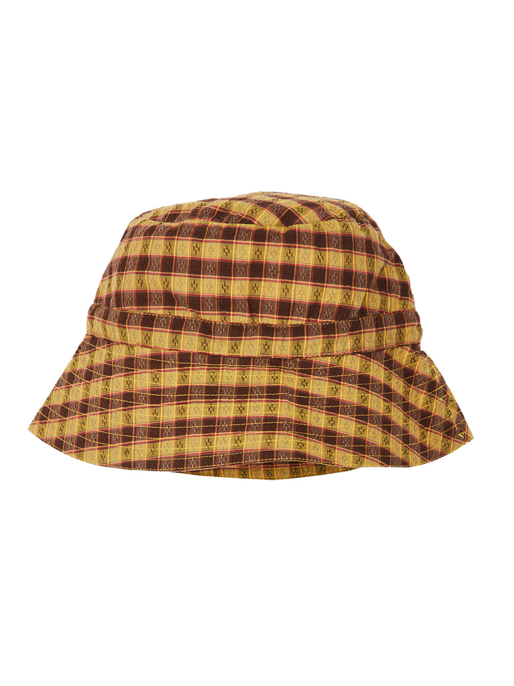 Mustard Check Hippocampus Baby Hat