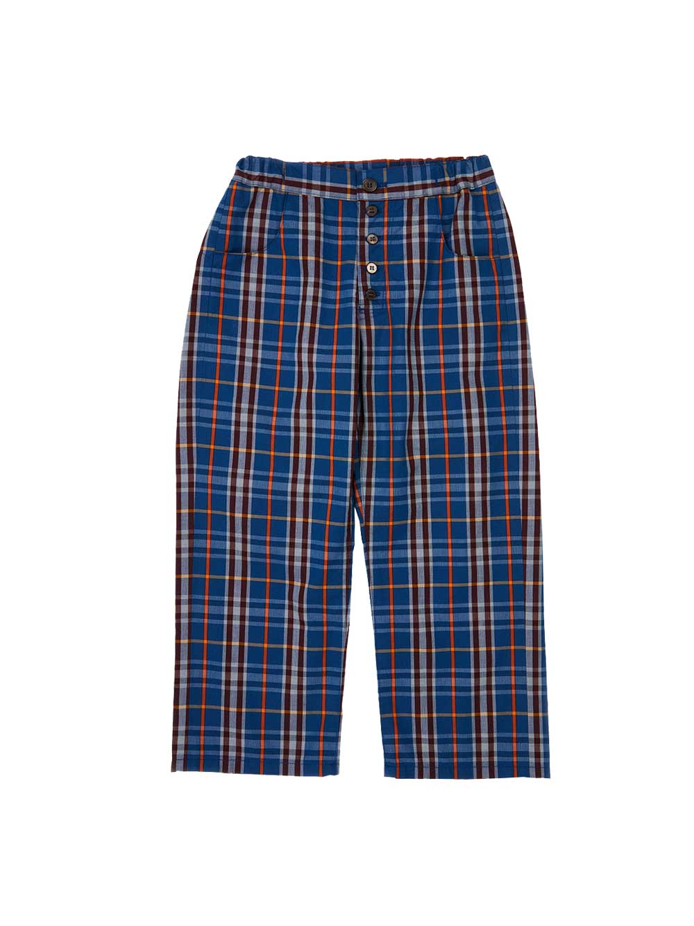 Bernacle Blue Checked Trousers