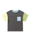 Black Color-Block T-Shirt