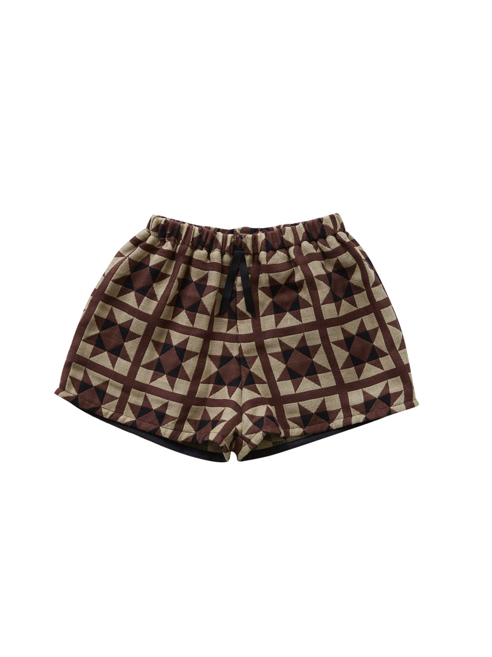 Brown Amish Quilt Shorts