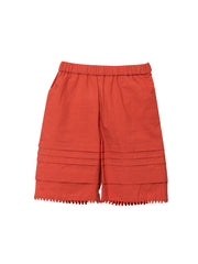 Red Tuck Shorts