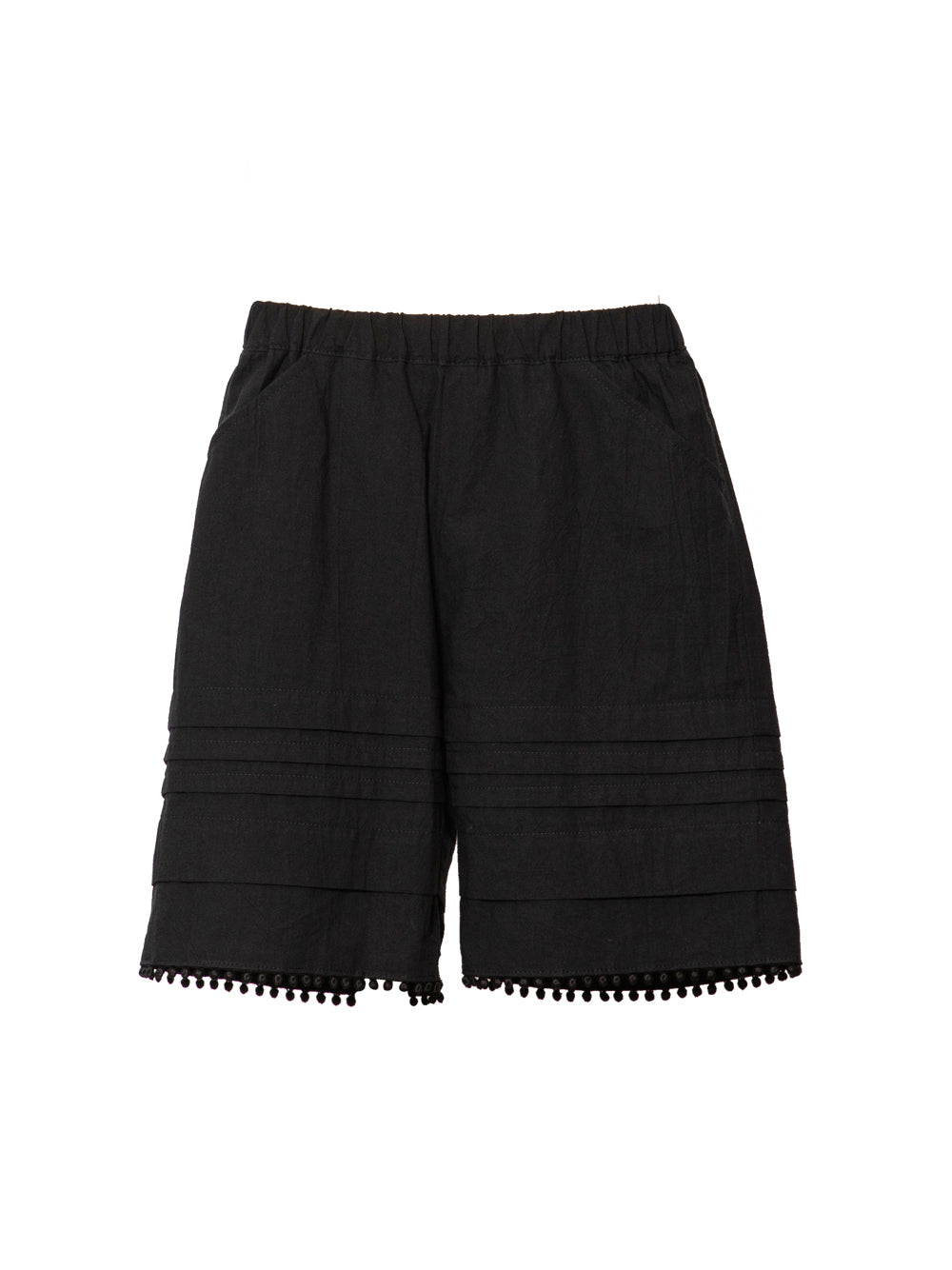 Black Tuck Shorts