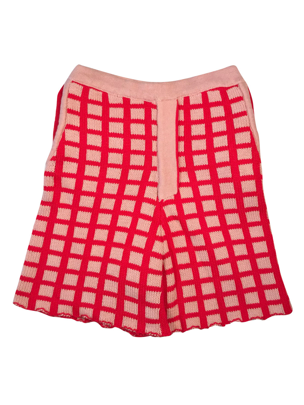 Pink and Red Knit Shorts