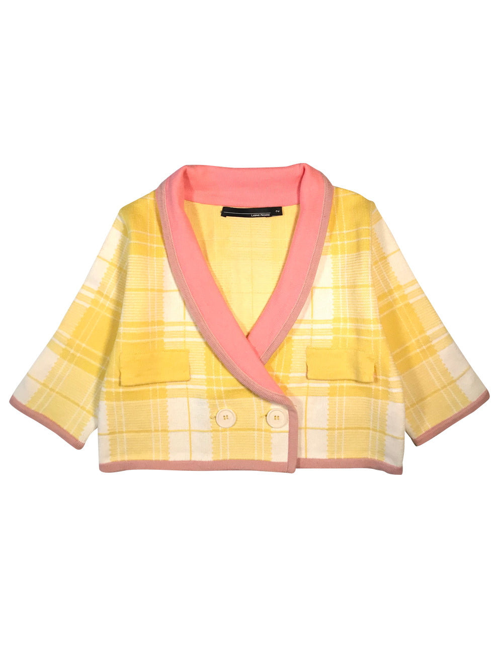 Yellow Checked Jacket