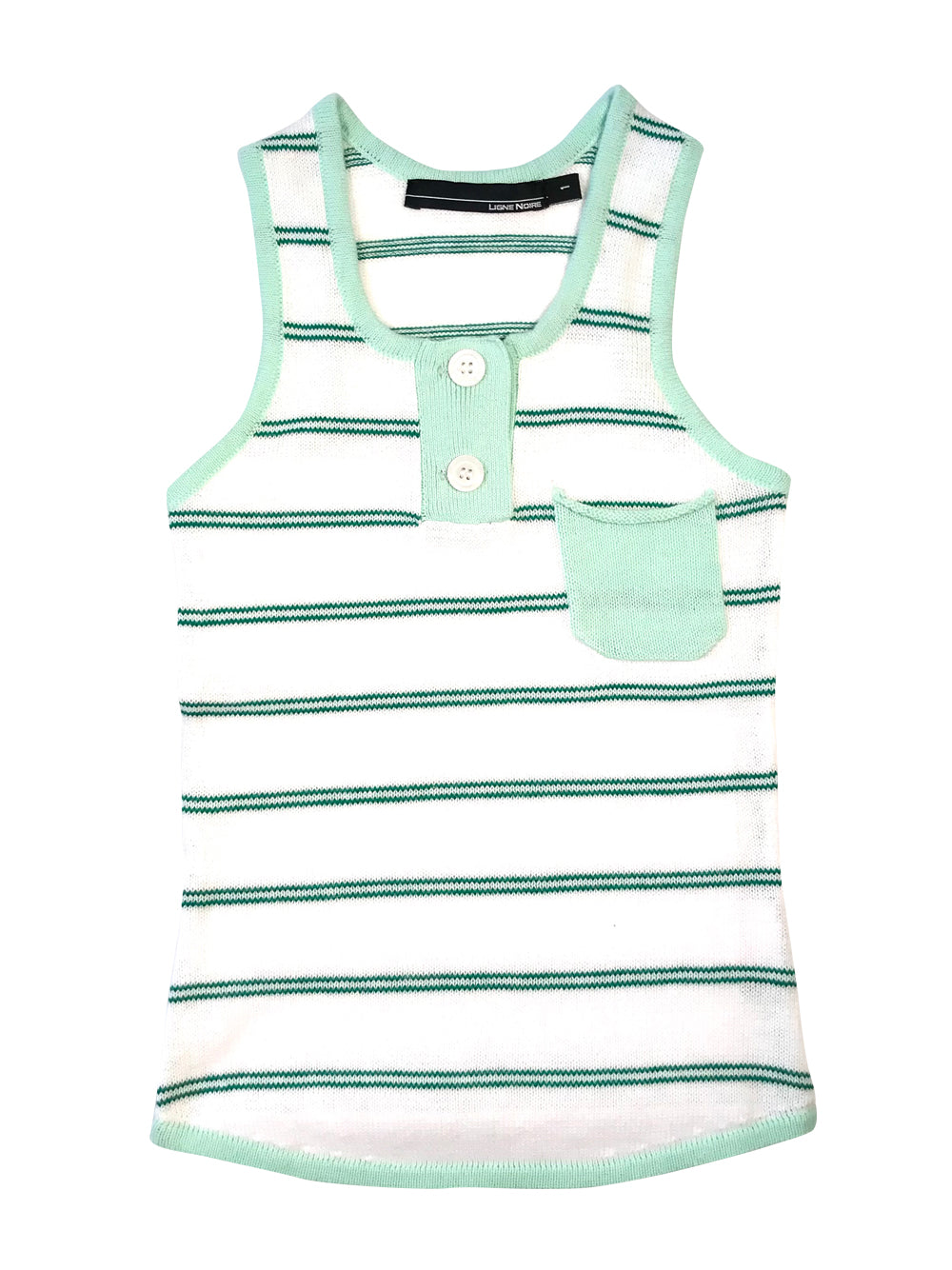 White and Green Tank