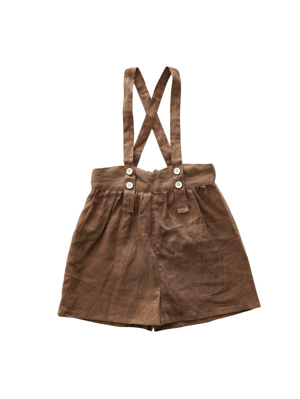 Brown Suspender Shorts