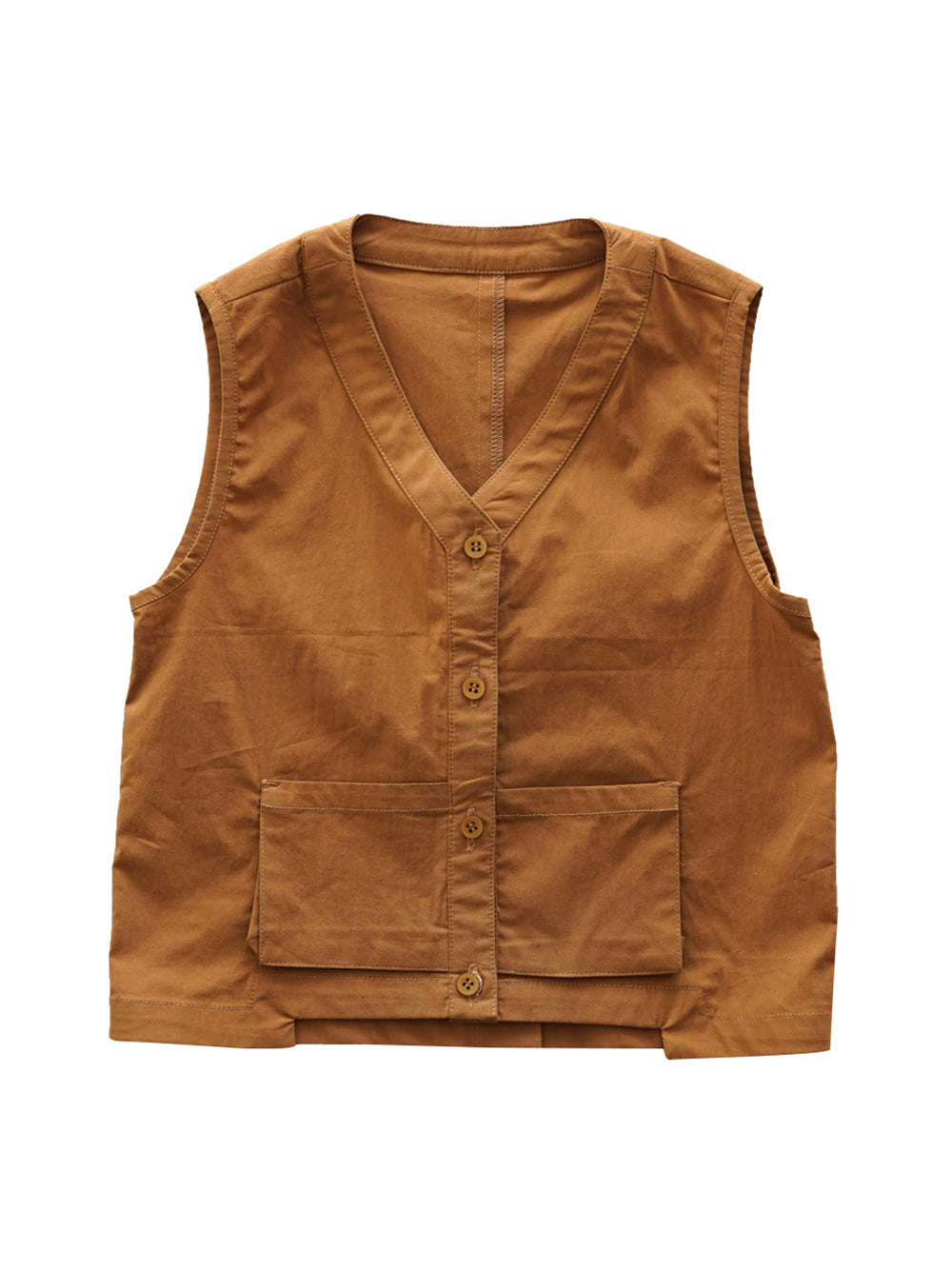 Brown Vest Top