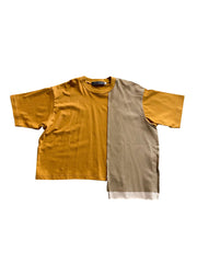 Brown Side Panel Tee