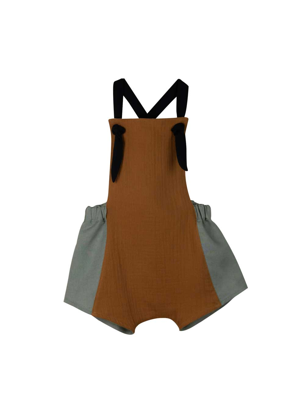 Brown Two Tone Dungarees