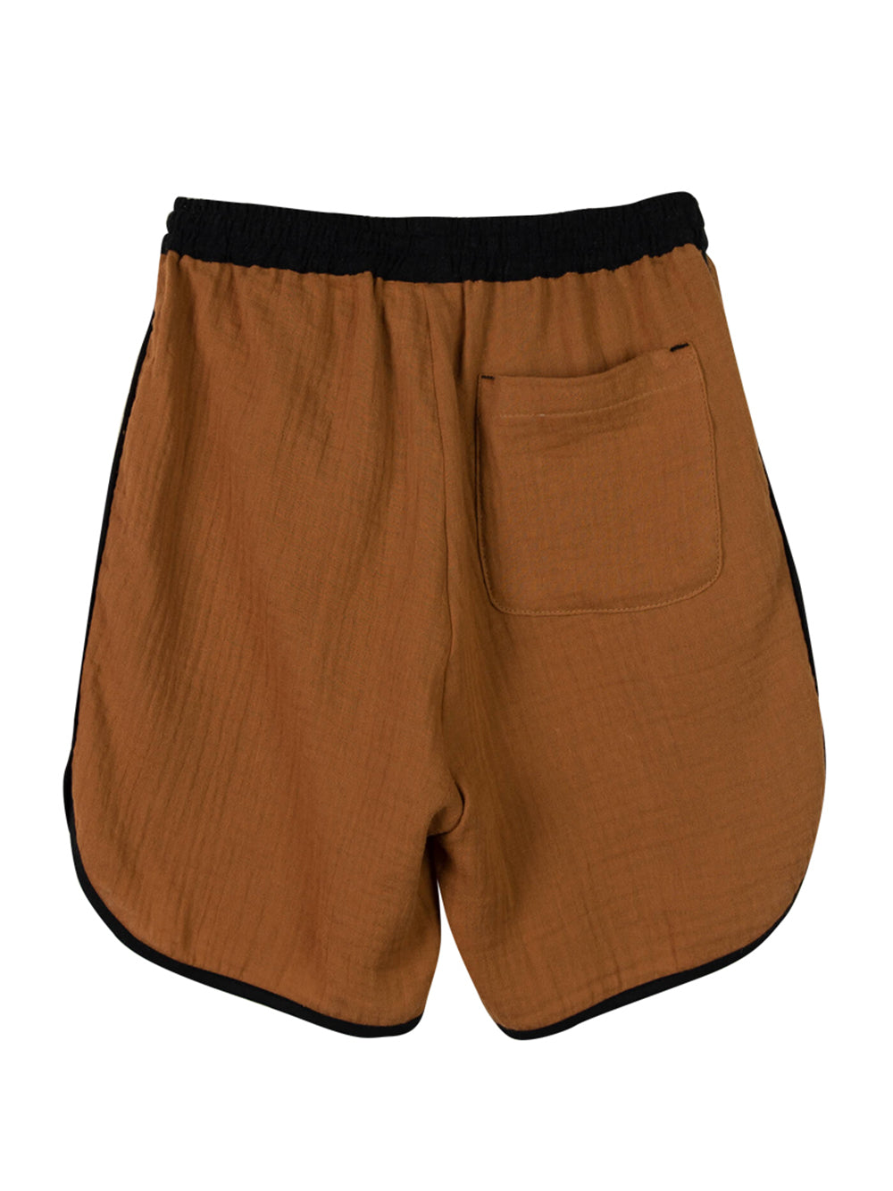 Brown Two Tone Bermuda Shorts