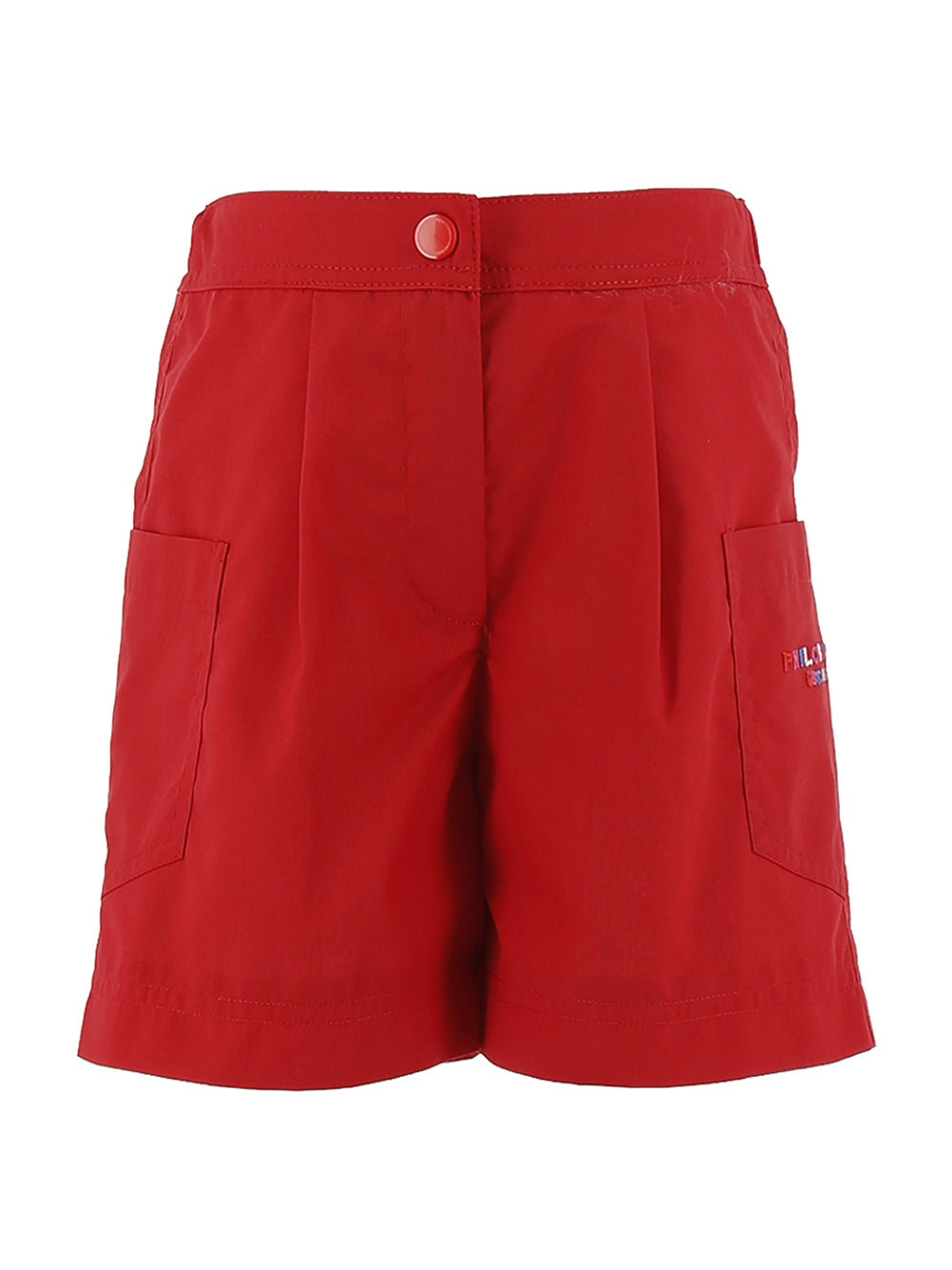 Red Pleated Philosophy Shorts
