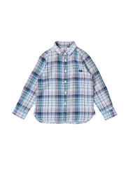 Blue Gauze Checked Shirt