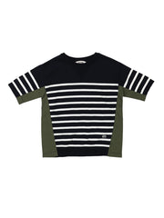 Striped-Knit T-Shirt