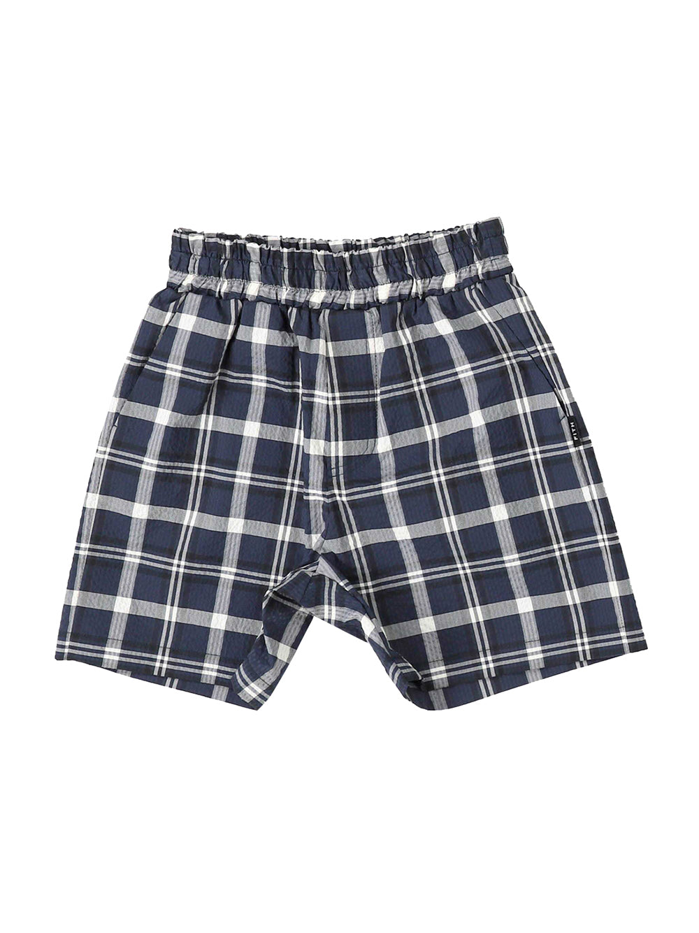 Coolmax Navy Checked Shorts