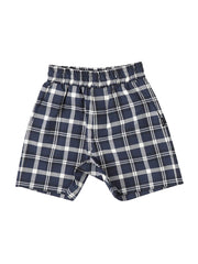 PREORDER: Coolmax Navy Checked Shorts