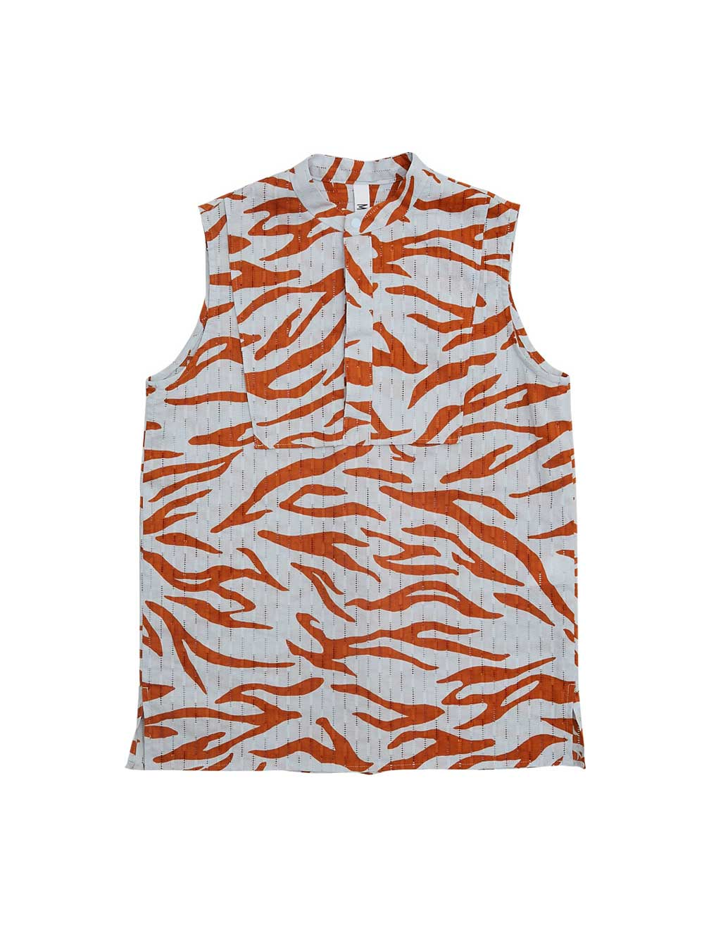 Orange Sleeveless Camo Shirt