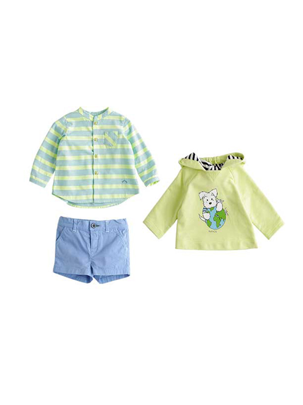 Blue Bermuda Baby Shorts