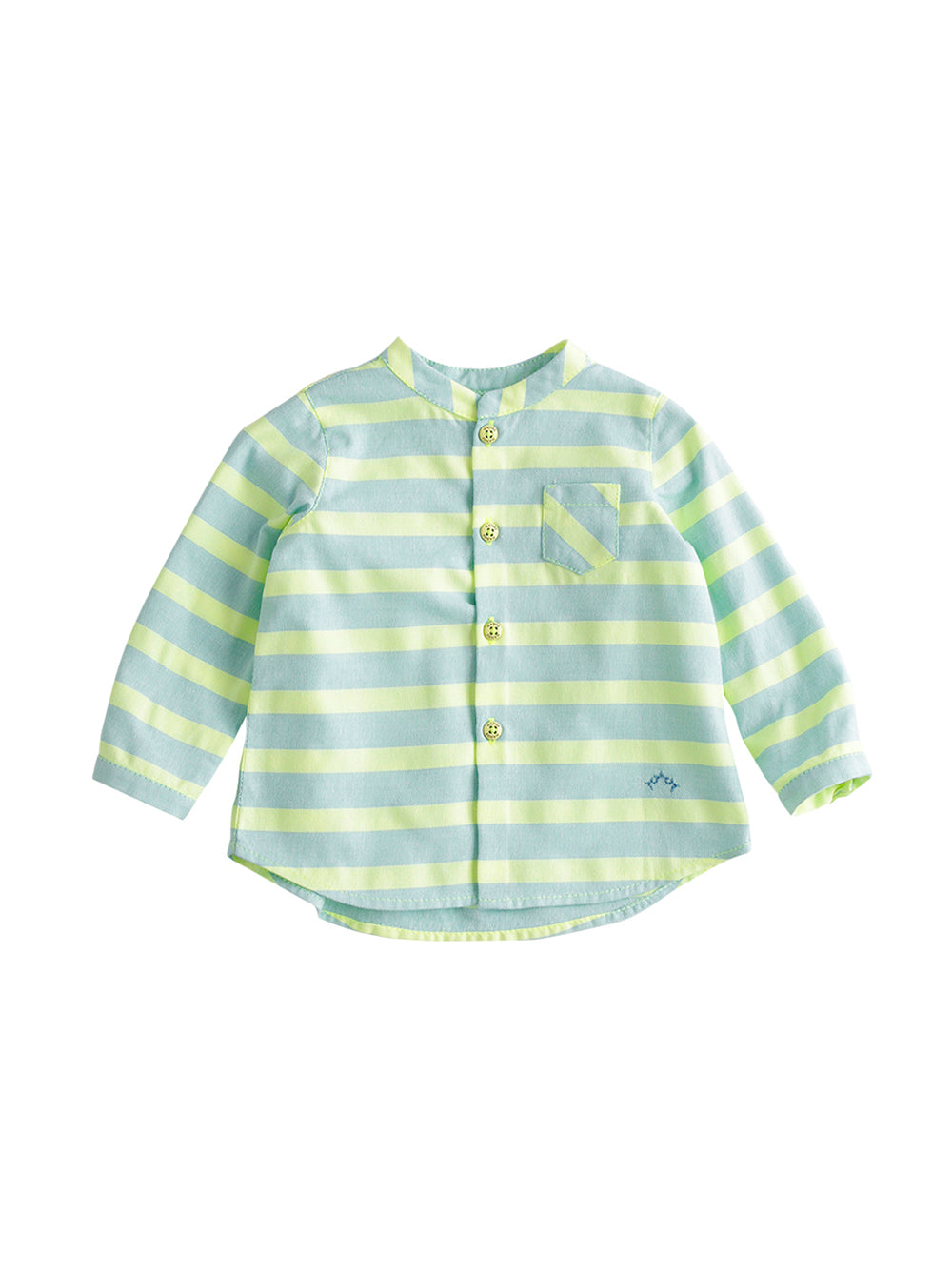 MInt Striped Baby Shirt
