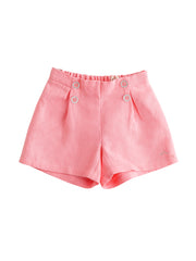 Coral Pleated Shorts