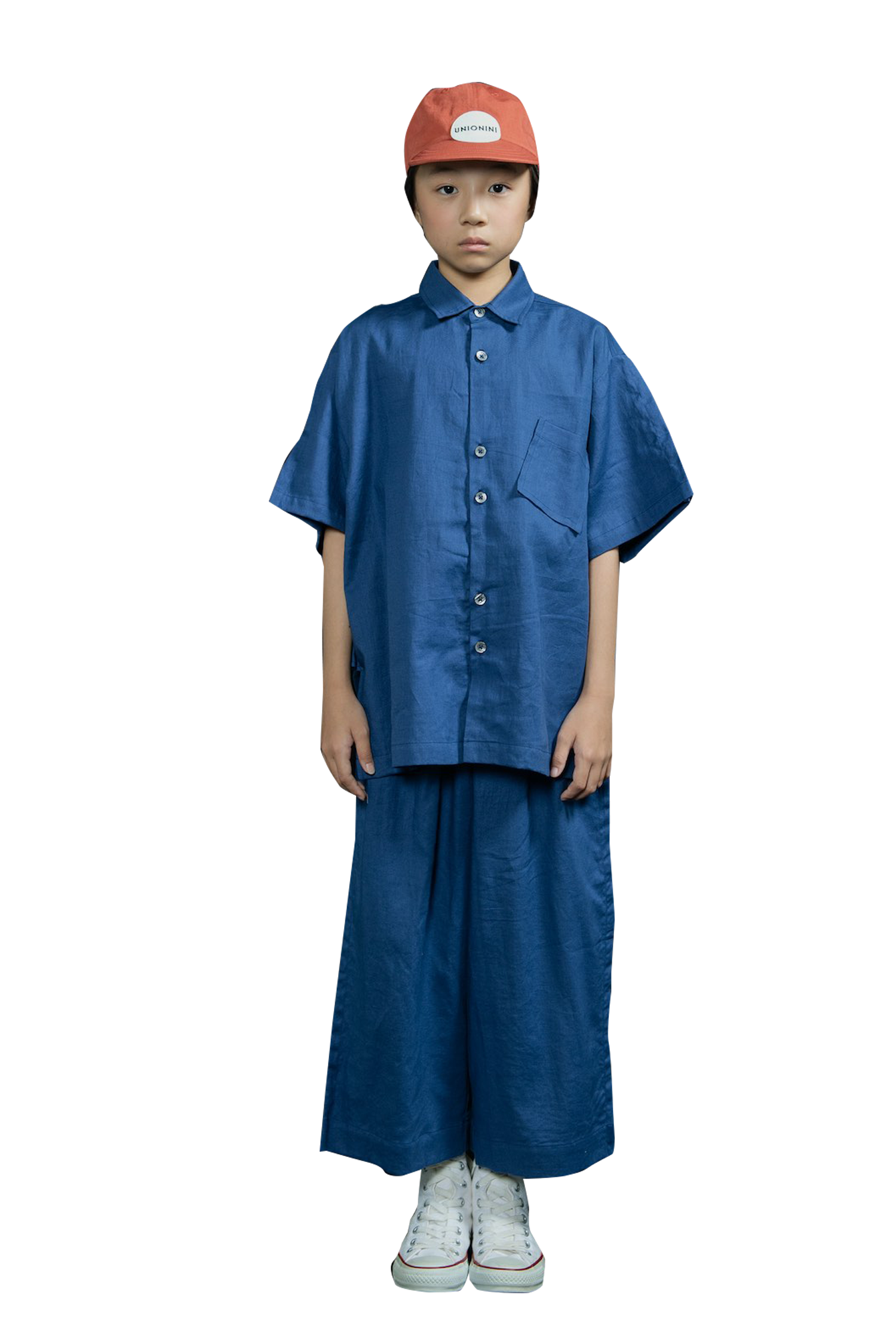 Blue Linen Big Shirt