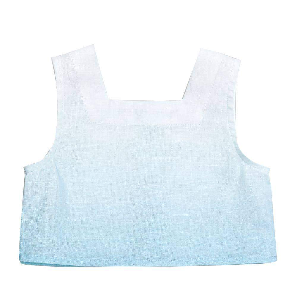 Clear Sky Linen Crop Top