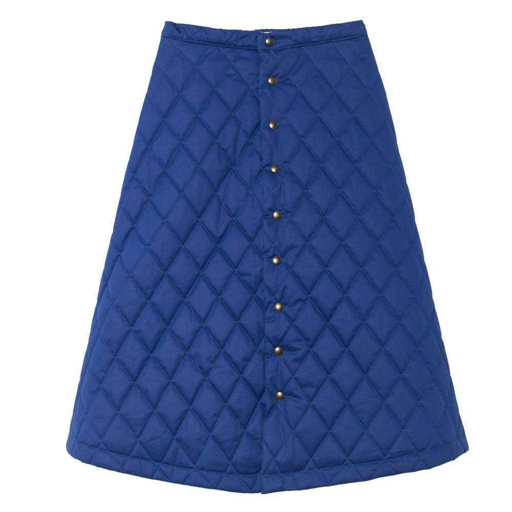 Blue Quilted Skirt