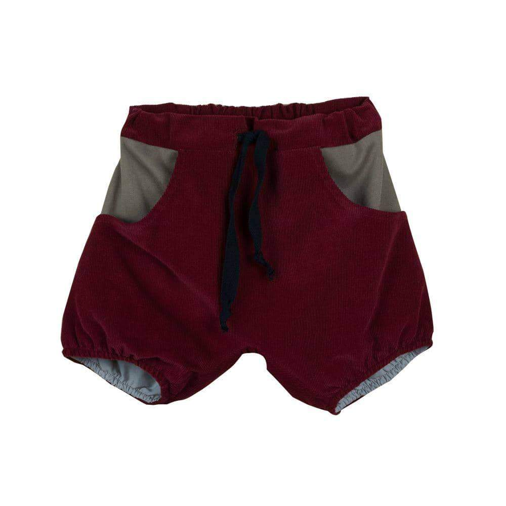 Burgundy Bermuda Shorts