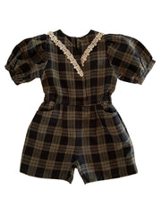 Suzu Tutal Checked Playsuit