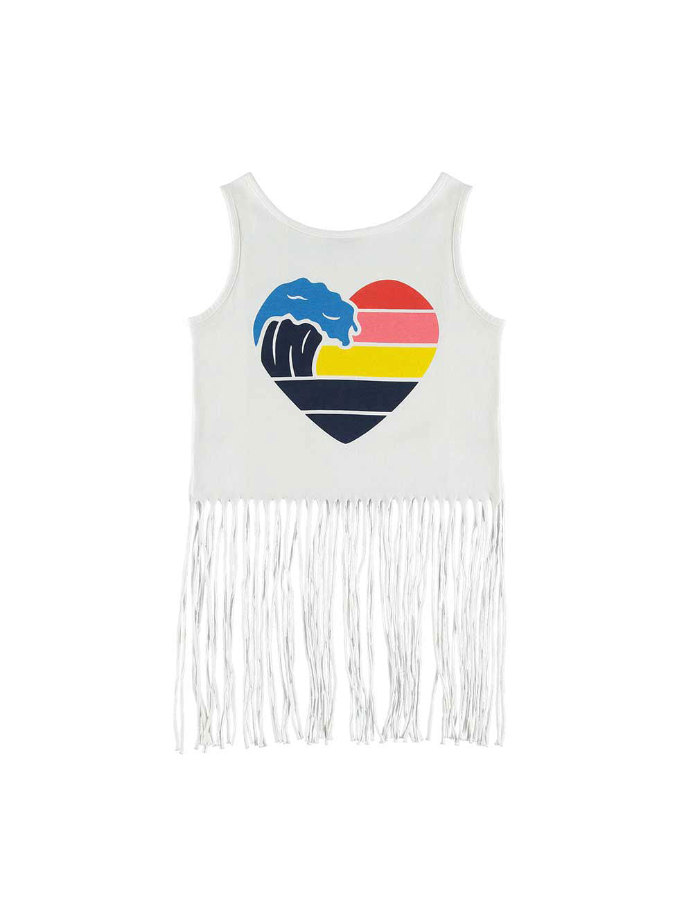 Surf Vibes Fringed Tee