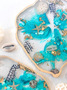 'Treasures From The Sea' Irregular Geode Coaster Set