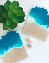 Load image into Gallery viewer, 'Coastal Collection' Geode Coasters