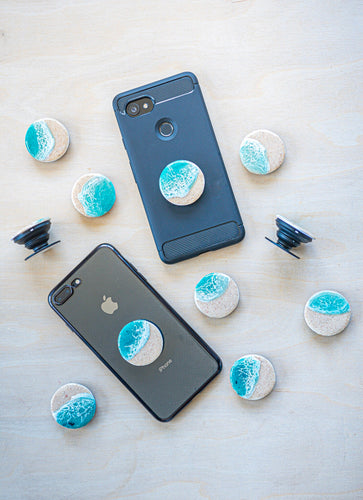 'Seascape' Pop Socket Phone Grip