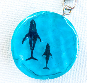 'Submerged' Whale Keychains