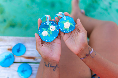 Sand Dollar Turtle Ornaments