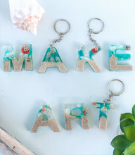 Load image into Gallery viewer, Ocean Letter Keychains