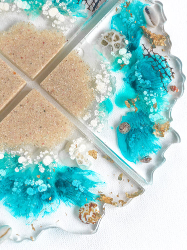 'Treasures From The Sea' Geode Coasters
