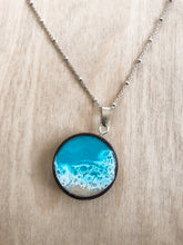 Load image into Gallery viewer, 'Seascape' Wood Necklace Pendant