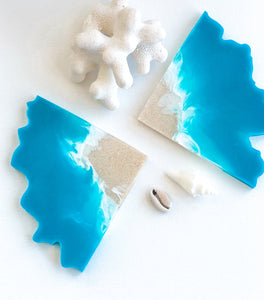 'Coastal Collection' Geode Coasters