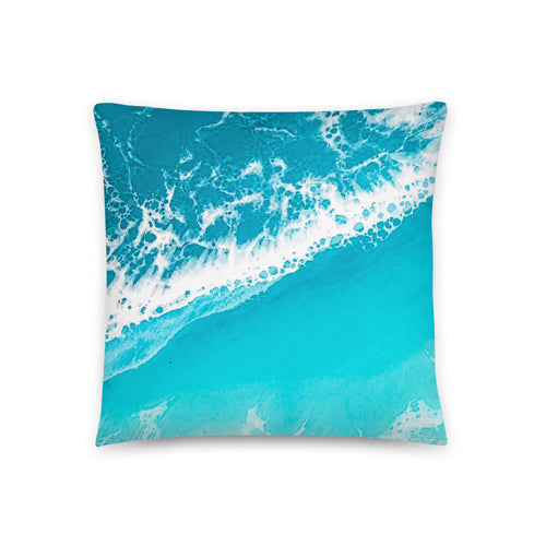 'Raised By The Waves' Throw Pillow