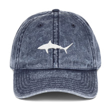Load image into Gallery viewer, 'Sharktivity' Distressed Dad Hat