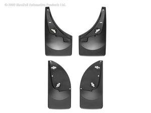 DDF Automotive WeatherTech 110009-120001 No Drill Mudflaps - Front and Rear Pair - Black