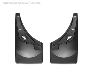 DDF Automotive WeatherTech 110009 No Drill Mudflaps - Front Pair - Black