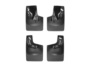 DDF Automotive WeatherTech 110049-120049 No Drill Mudflaps - Front and Rear Pair - Black