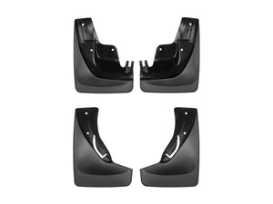 DDF Automotive WeatherTech 110058-120058 No Drill Mudflaps - Front and Rear Pair - Black